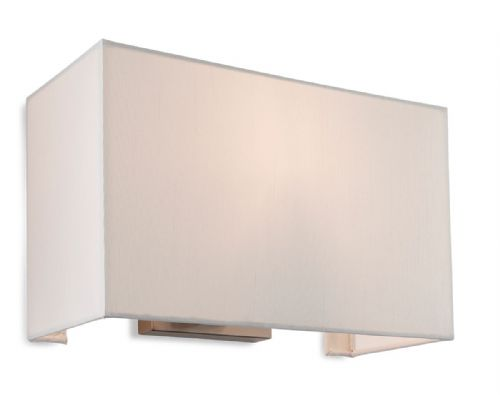 Fargo Single Wall Light, Brushed Steel with Cream Shade, 4941BS